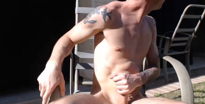Voyeurboys live masturbating in his garden