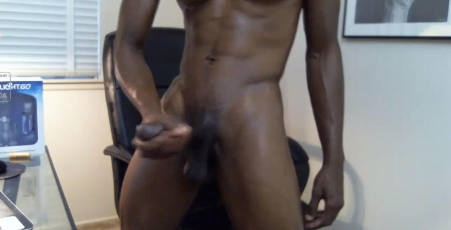Thick black cock inside your mouth and ass