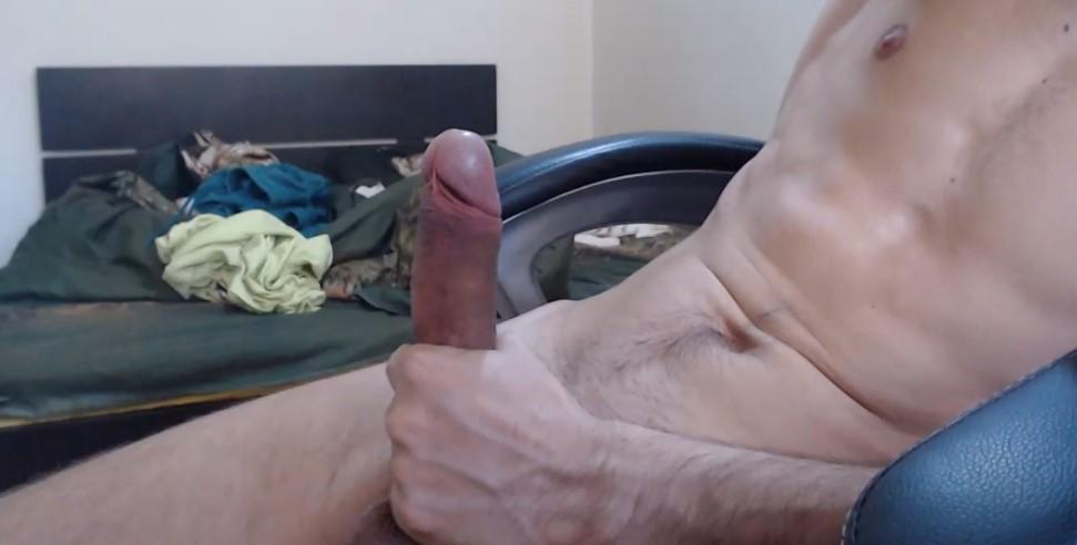 He tries to cum after masturbating