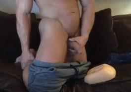 Solid men work hands in front of the cam